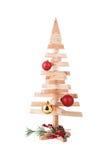 Christmas decoration. Wooden Christmas tree decoration isolated Stock Photo