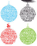 Christmas decoration with words Stock Photo