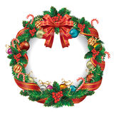 Christmas decoration wreath. Royalty Free Stock Photography