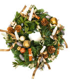 Christmas decoration wreath Stock Photography