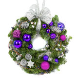 Christmas decoration wreath isolated on white Royalty Free Stock Photography