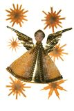Christmas decoration xmas angel Royalty Free Stock Image