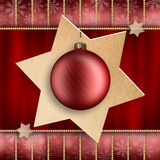Christmas decoration - xmas bauble and stars Stock Image
