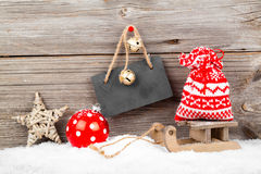 Christmas decoration with xmas canes Stock Images