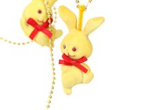 Christmas decoration yellow hare Stock Photography