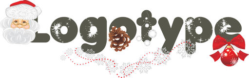 Christmas decoration of your logo Stock Images