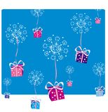 Christmas decoration2. Gifts snowing on Christmas Day vector illustration