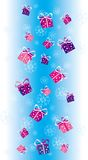 Christmas decoration4. Gifts snowing on Christmas Day vector illustration