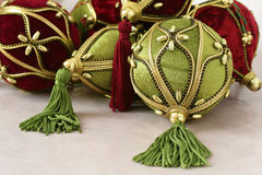 Christmas Decorations. Close up shot of some colorful christmas decorations Stock Photography