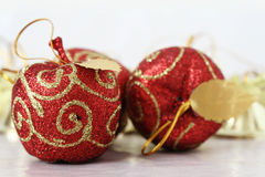 Christmas Decorations. Close up shot of some colorful christmas decorations Royalty Free Stock Images