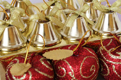 Christmas Decorations. Close up shot of some colorful christmas decorations Stock Images