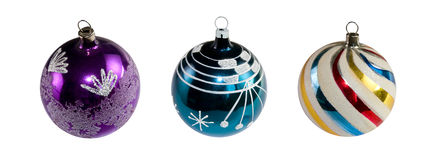 Christmas decorations. With three balls Stock Image