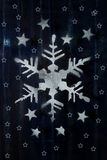 Christmas decorations. Made of artificial snow Royalty Free Stock Photography