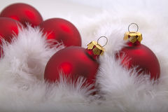Christmas decorations. Red christmas baubles. Christmas decorations Royalty Free Stock Image