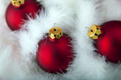 Christmas decorations. Red christmas baubles. Christmas decorations Royalty Free Stock Photo