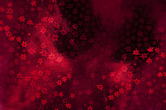 Christmas decorations. Red wrapping paper with stars Royalty Free Stock Photo