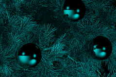 Christmas decorations. On pine tree Royalty Free Stock Images