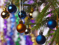 Christmas decorations. Colored balls to decorate the Christmas tree Royalty Free Stock Photos