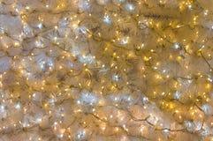 Christmas decorations. Christmas-tree garlands. Christmas decorations. Background Royalty Free Stock Photos