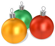 Christmas Decorations. 3D illustration of Christmas decorations, isolated on a white background Stock Photography