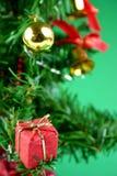 Christmas Decorations. On tree Stock Photo