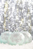 Christmas decorations. Set against a sparkling background Stock Photography