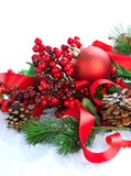 Christmas Decorations. On white background Royalty Free Stock Images
