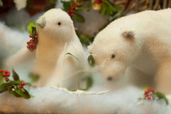 Christmas decorations. Beautiful Christmas decorations with animals Royalty Free Stock Image