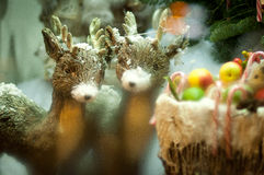 Christmas decorations. Beautiful Christmas decorations with animals Royalty Free Stock Photos