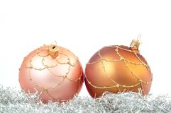 Christmas decorations. On white ground Stock Images
