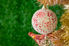 Christmas decorations. Image of christmas decorations and out of focus background Stock Photos