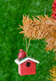 Christmas decorations. Image of christmas decorations and out of focus background Royalty Free Stock Photography