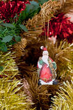 Christmas decorations. Image of christmas decorations and out of focus background Stock Images