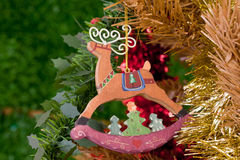 Christmas decorations. Image of christmas decorations and out of focus background Stock Photo
