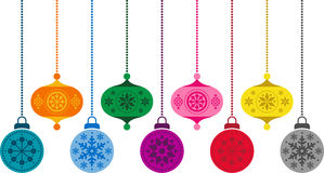 Christmas decorations. This is a collection of colorful Christmas decorations Royalty Free Stock Photo
