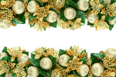 Christmas decorations. Isolated on white. Copy space for your text Royalty Free Stock Photos