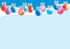 Christmas decorations. Vector illustration of christmas baubles  on abstract background Royalty Free Stock Photography