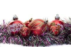 Christmas decorations. The Christmas decorations isolated on white background Stock Images
