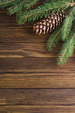 Christmas decorations. On wooden background Stock Images
