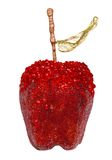 Christmas decorations. Red apple isolated on a white background Royalty Free Stock Images