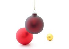 Christmas Decorations. On a white background Royalty Free Stock Photos