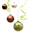 Christmas decorations. Isolated on a white background Royalty Free Stock Photos