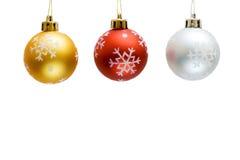Christmas decorations. Isolated on white background Stock Photo