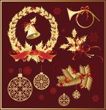 Christmas_decorations vector illustratie