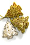 Christmas decorations. On white background Royalty Free Stock Photos