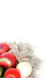 Christmas decorations. On a white background Stock Photos