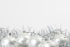 Christmas decorations. A  silver christmas decoration - isolated Stock Photo