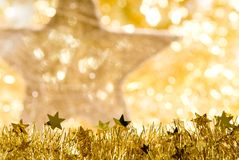 Christmas decorations. A christmas decoration with star Stock Photography