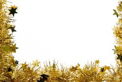 Christmas decorations. A christmas decoration with star - isolated Royalty Free Stock Images