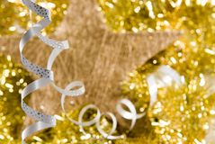 Christmas decorations. A christmas decoration with star Royalty Free Stock Photo